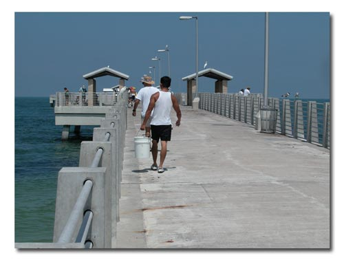 Going fishing on the Gulf pier