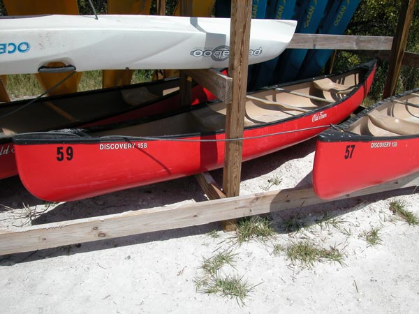 Rent a canoe at Fort Desoto Park.
